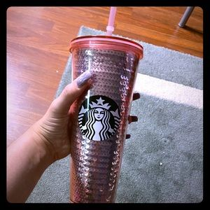 Starbucks pink limited edition sequin cup